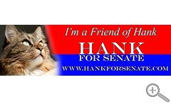 Friends Of Hank Bumper Sticker